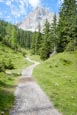 Seebenalm Footpath To The Seebensee With The Sonnenspitze Mountain Peak, Ehrwald, Tyrol, Austria