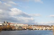 Thumbnail image of View of the Charles Bridge with the Vlatva River and the Castle, Prague, Czech Republic