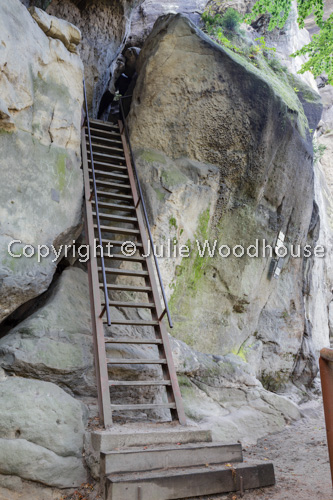 photo showing Steps Into The Saunstejn In The Bohemian Switzerland National Park Ceske Svycarsko, Usti Nad Labem,