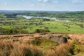 View Towards Tittesworth Reservoir From The Roaches, Staffordshire