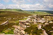 Thumbnail image of Hathersage Moor - view towards Higger Tor and Carl Wark  Derbyshire