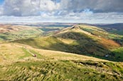 View From Mam Tor Towards The Great Ridge,  Derbyshire