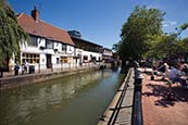 Waterside With River Witham And Caf