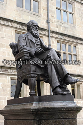 photo showing Charles Darwin Statue, Shrewsbury
