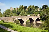 Ludlow Castle And River Teme, Shropshire