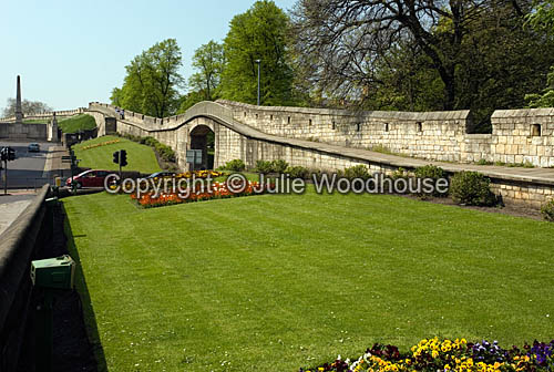 photo showing City Walls, York
