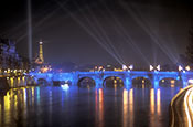 River Seine With Pont Neuf And Eiffel Tower, Paris