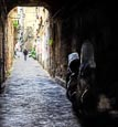 Typical Street In Naples Old Town, Campania, Italy
