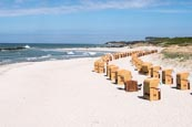Wustrow Beach With Beach Chairs, Mecklenburg-Vorpommern, Germany