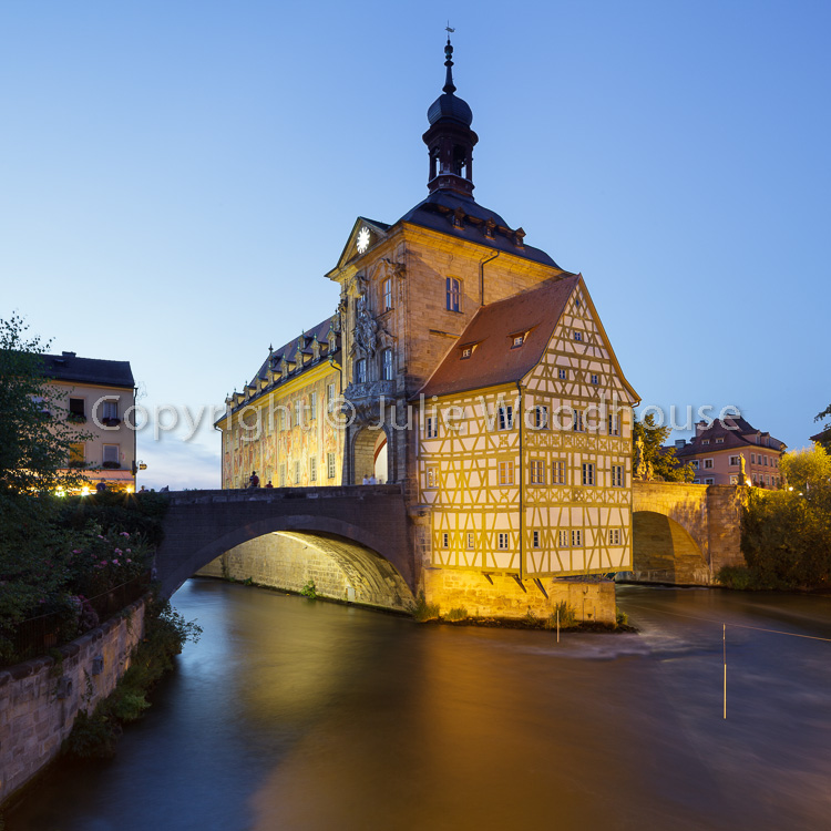 photo showing Old Town Hall And The Obere Bridge, Bamberg, Bavaria, Germany