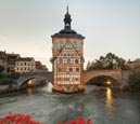Old Town Hall And The Obere Bridge, Bamberg, Bavaria, Germany