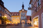 Old Town Hall, The Obere Bridge And Karolinenstrasse, Bamberg, Bavaria, Germany