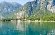 Königssee With The St. Bartholomä Pilgrimage Church And Mount Watzmann, Lake Königssee, Upper Bavari