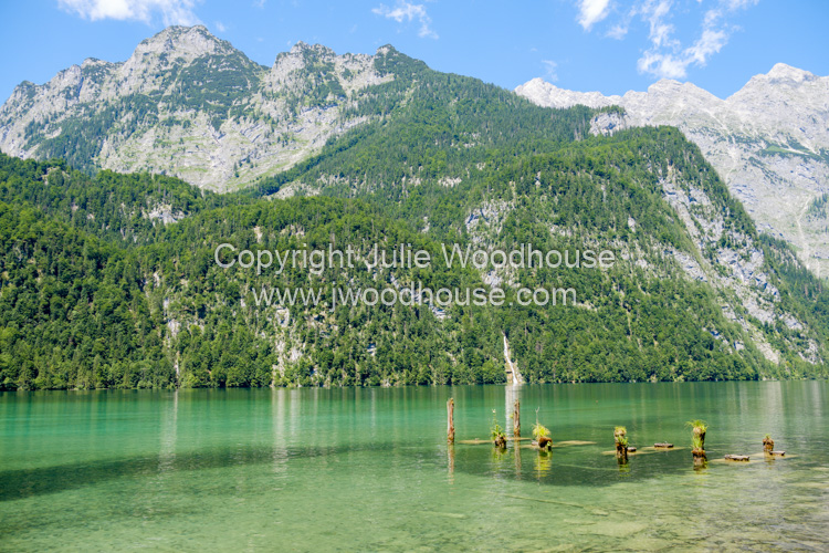 photo showing Lake Königssee Viewed Near Salet Landing Stage, Upper Bavaria, Bavaria, Germany, Europe
