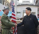 Kim Jong Un Impersonator With Border Guard At Checkpoint Charlie, Berlin