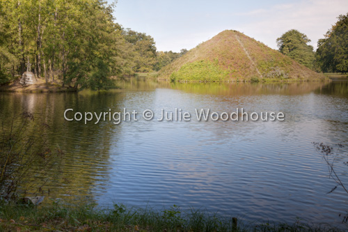 photo showing Lake Pyramid In Branitz Park, Tomb Of Fuerst Pückler And His Wife, Cottbus, Brandenburg, Germany