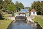 Canal Locks At Himmelpfort, Brandenburg, Germany