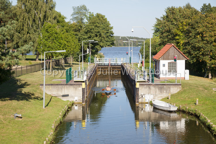 photo showing Canal Locks At Himmelpfort, Brandenburg, Germany