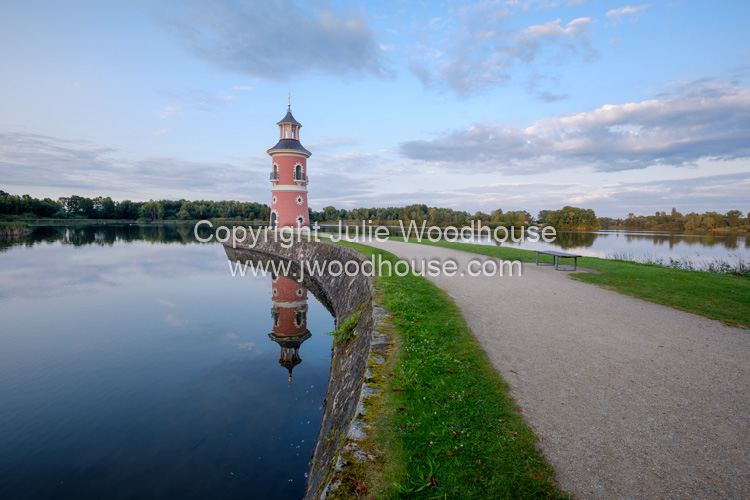 photo showing Niederer Grossteich Lake And Lighthouse, Moritzburg, Saxony, Germany