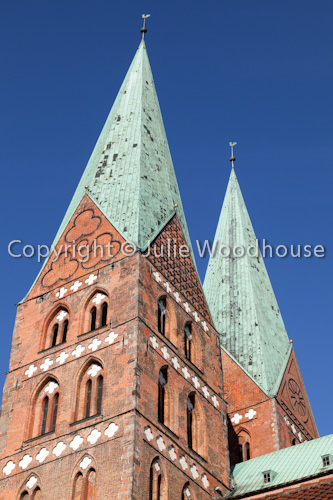 photo showing Marienkirche, Luebeck, Schleswig-Holstein, Germany