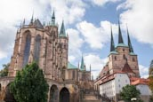 Cathedral And Church Of St. Severus, Erfurt, Thuringia, Germany