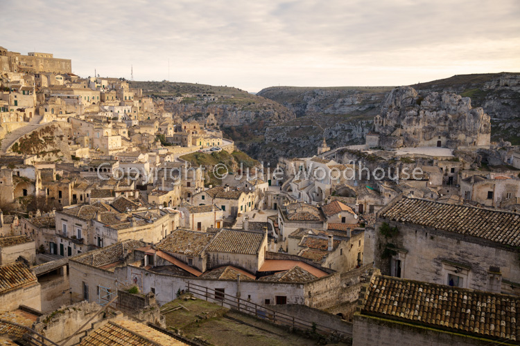 photo showing View Over The City From Viewpoint At Piazzetta Pascoli, Matera, Basilicata, Italy