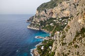 View From Belvedere Cannone Over The Coast And Marina Piccola, Capri, Campania, Italy