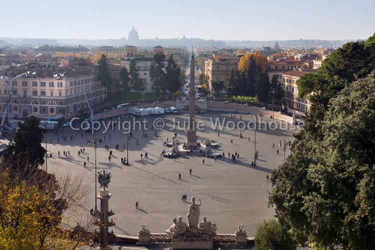 photo showing View Over Piazza Del Popolo, Rome, Italy