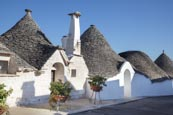 Typical Trulli In The Aia Piccola  District In Alberobello, Puglia, Italy
