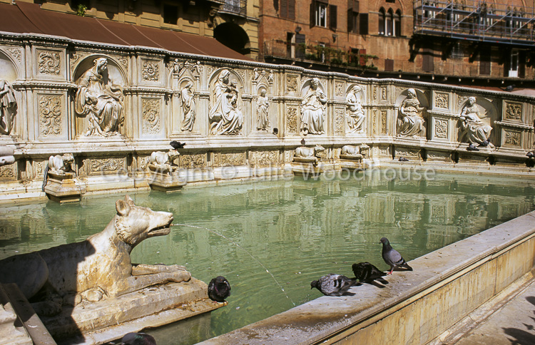 photo showing Fonte Gaia, Piazza Del Campo, Siena, Tuscany, Italy