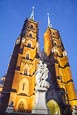 Cathedral Of St. John The Baptist With Statue Of Mary And Child, Wroclaw, Poland