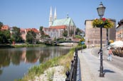 Thumbnail image of Zgorzelec with view back to Goerlitz, St Peter and Paul Church, Waidhaus and the Altstadt Bridge, Zg