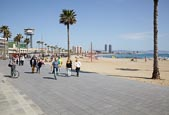 Thumbnail image of Passeig del Mare Nostrum and Barceloneta Beach, Barcelona, Catalonia, Spain