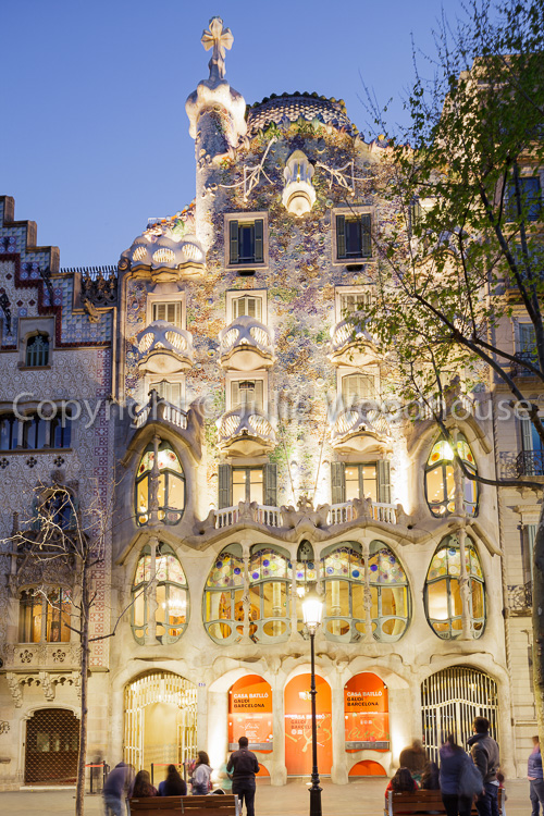 photo showing Casa Batllo By Gaudi, Barcelona, Catalonia, Spain